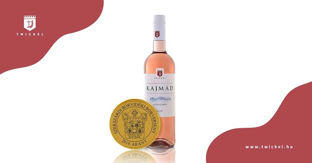 Aranyérmes bor lett a Twickel Kajmád Rosé 2018